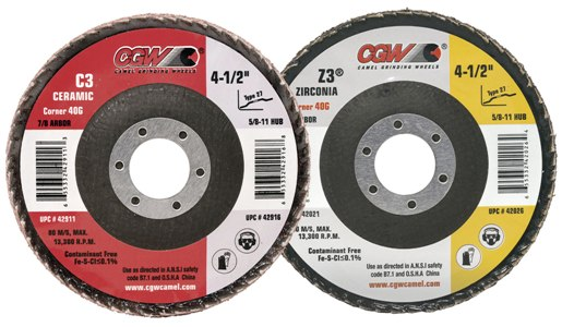 "3"" 60G Zirconia Roll On Corner Mini Flap Discs"