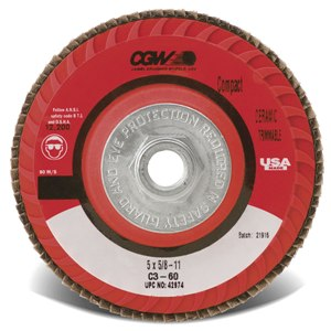 4-1/2 x 5/8-11 C3-60G Compact-Trimmable Ceramic