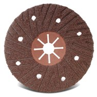 5 x 7/8 Red Fibre backing  Domed  T29  AO 36G